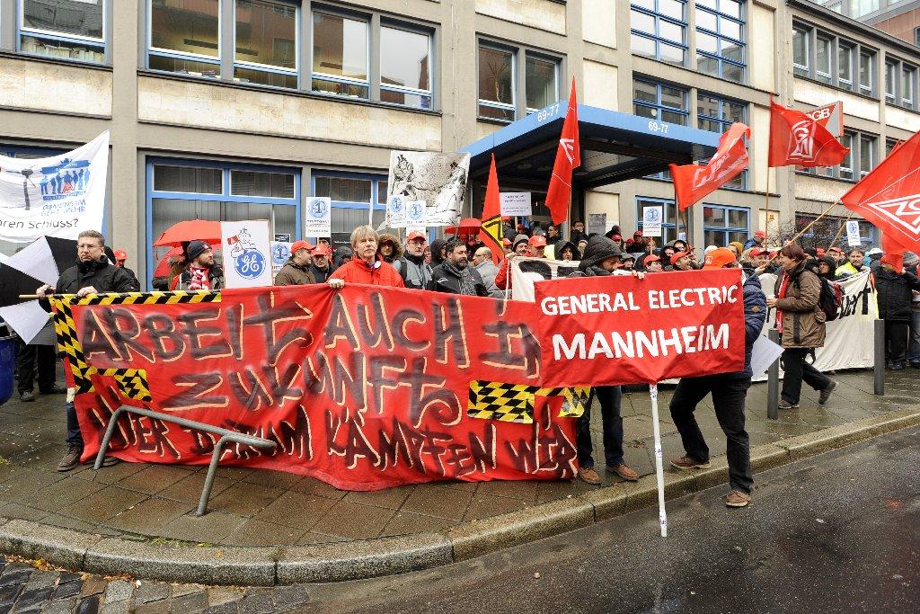Demo vor der GE-Konzernzentrale